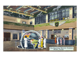 Miami, Florida - Pan-American Airways Terminal Interior View Prints by  Lantern Press