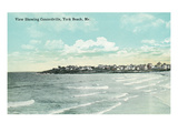 York Beach, Maine - Scenic View Showing Concordville Poster by Lantern Press 