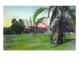 Miami, Florida - Bayfront Park Scene Print by  Lantern Press
