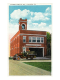 Palmyra, Pennsylvania - Citizens' Fire Station No 1 Exterior View Poster by  Lantern Press