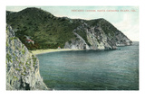 Santa Catalina Island, California - Aerial View of Descanso Canyon Prints by  Lantern Press