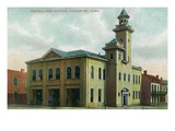 Davenport, Iowa - Central Fire Station Exterior View Posters by  Lantern Press