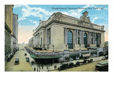 New York City, New York - Exterior View of Grand Central Posters by  Lantern Press
