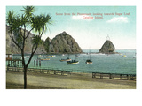 Santa Catalina Island, California - Promenade View of Sugar Loaf Print by  Lantern Press
