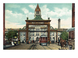 Denver, Colorado - View of 17th Street Welcome Arch, Union Station Poster von  Lantern Press