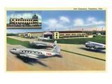 Columbus, Ohio - Landed Twa Planes at Port Columbus Posters by Lantern Press