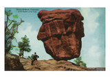 Colorado Springs, Colorado - Garden of the Gods, View of Balanced Rock Art by  Lantern Press