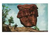Colorado Springs, Colorado - Garden of the Gods, View of Balanced Rock Art by  Lantern Press