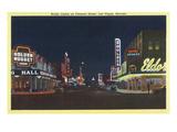 Las Vegas  Nevada - Fremont Street Scene at Night