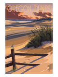 Oregon Dunes on the Oregon Coast Prints by  Lantern Press