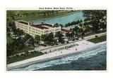 Miami Beach, Florida - Hotel Wofford Exterior View Kunstdrucke von  Lantern Press