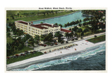 Miami Beach, Florida - Hotel Wofford Exterior View Prints by  Lantern Press