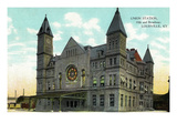 Louisville, Kentucky - Union Station from 10th and Broadway Prints by  Lantern Press