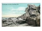 York Beach, Maine - Old Man of the Sea Rock Formation Posters by Lantern Press 