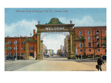 Denver, Colorado - Up 17th Street from the Welcome Arch Posters by  Lantern Press