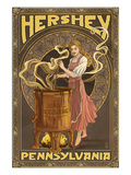 Woman Making Chocolate - Hershey, Pennsylvania Prints by  Lantern Press