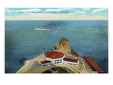 Santa Catalina Island, California - Aerial View of Sugar Loaf and Casino Posters by  Lantern Press