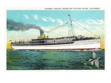 Santa Catalina Island, California - View of the Steamer Avalon Art by  Lantern Press