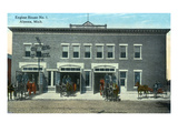 Alpena, Michigan - Fire Engine House No 1 Exterior View Prints by  Lantern Press