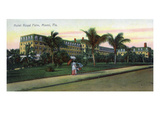 Miami, Florida - Royal Palm Hotel Exterior View Art by  Lantern Press