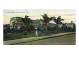 Miami, Florida - Royal Palm Hotel Exterior View Art by  Lantern Press