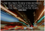 Thomas Wolfe New York Quote Posters