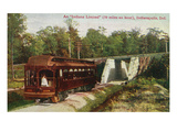 Indianapolis, Indiana - View of a Indiana Limited Train Art by Lantern Press 