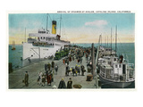 Santa Catalina Island, California - Arrival of the Catalina Steamer Posters by  Lantern Press