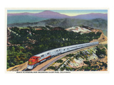 California - Santa Fe Streamliner Ascending Cajon Pass Posters by  Lantern Press