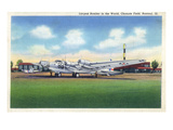 Rantoul, Illinois - View of the B-15A Plane at Chanute Field Prints by  Lantern Press