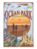 Ocean Park, Washington - Montage Posters by  Lantern Press
