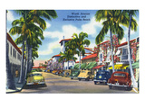 Palm Beach, Florida - View Down Worth Avenue Prints by  Lantern Press