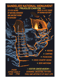 Bandelier National Monument, New Mexico - Night Scene Poster by  Lantern Press