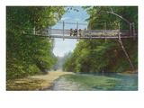 Santa Cruz, California - View of an Overhanging Bridge Posters by  Lantern Press