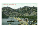 Santa Catalina Island, California - Aerial View of Avalon Bay Poster by  Lantern Press