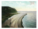 Santa Catalina Island, California - Aerial View of Pebbly Beach Print by  Lantern Press
