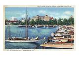St. Petersburg, Florida - Aerial View of Heart of the City Kunstdrucke von  Lantern Press