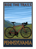 Pennsylvania - Mountain Bike Scene Art by  Lantern Press