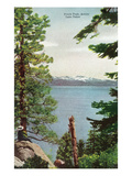 Lake Tahoe, California - Freels Peak View from Lake Kunstdrucke von  Lantern Press