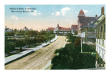Los Angeles, California - View of Soldier's Home in Sawtelle Posters by  Lantern Press