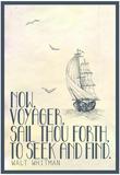 Walt Whitman Now Voyager Plakaty