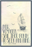 Walt Whitman Now Voyager Poster