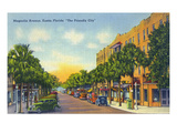Eustis, Florida - View Down Magnolia Avenue Posters by  Lantern Press