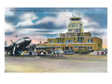 Oklahoma City, Oklahoma - Will Rogers Field Admin Building Prints by  Lantern Press