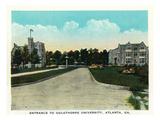 Atlanta, Georgia - Oglethorpe University Entrance Scene Prints by  Lantern Press