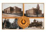 Syracuse, New York - Syracuse University Buildings Views Prints by  Lantern Press