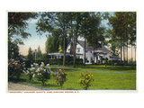 Saratoga Springs, New York - Inniscarra Exterior View, Olcott Residence Prints by  Lantern Press