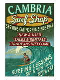 Cambria, California - Surf Shop Posters by  Lantern Press