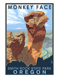 Monkey Face - Smith Rock State Park, Oregon Posters by Lantern Press