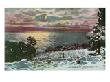 Lake Tahoe, California - Lake after a Snow Storm Posters par Lantern Press